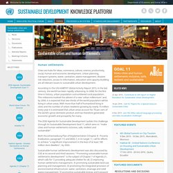 Sustainable cities and human settlements