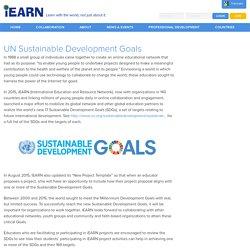 UN Sustainable Development Goals - iEARN Collaboration Centre (en-US)