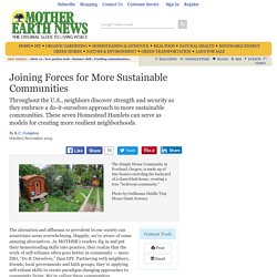 Joining Forces for More Sustainable Communities - Nature and Environment