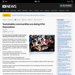 Sustainable communities are doing it for themselves