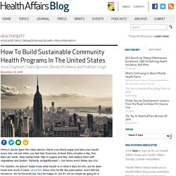 How to Build Sustainable Community Health Programs in the United States