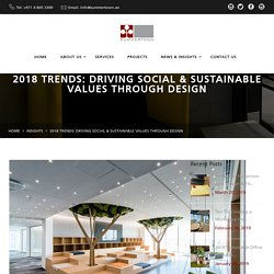 Sustainable fit out design trends 2018