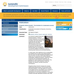 Publications · Sustainable Development Commission