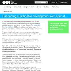 Supporting sustainable development with open data