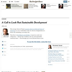A Call to Look Past Sustainable Development