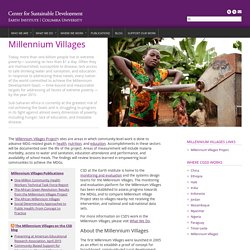 Millennium Villages – Center for Sustainable Development
