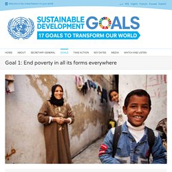 Poverty - United Nations Sustainable Development