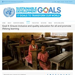 Education - United Nations Sustainable Development