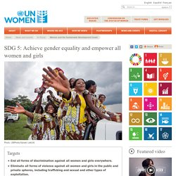 In focus: Women and the Sustainable Development Goals (SDGs): SDG 5: Gender equality