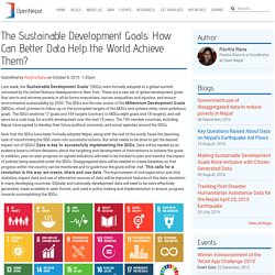 The Sustainable Development Goals: How Can Better Data Help the World Achieve Them?
