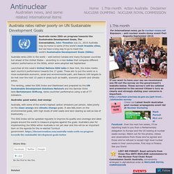 Australia rates rather poorly on UN Sustainable Development Goals « Antinuclear