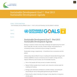 Sustainable Development Goal 7 - Post 2015 Sustainable Development Agenda
