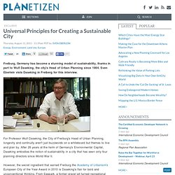 Universal Principles for Creating a Sustainable City
