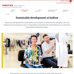 Sustainable development at Inditex