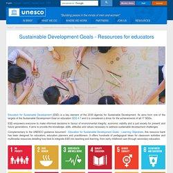 Sustainable Development Goals - Resources for educators