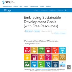 Embracing Sustainable Development Goals (with Free Resources) - Pathfinders