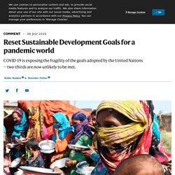 Reset Sustainable Development Goals for a pandemic world