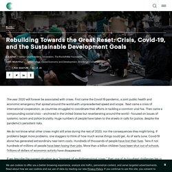 Reconstruire vers la grande réinitialisation: crise, Covid-19 et objectifs de développement durable