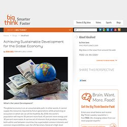 Achieving Sustainable Development for the Global Economy