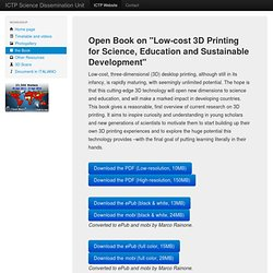 "Open Book on ""Low-cost 3D Printing for Science, Education and Sustainable Development"""