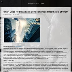 Smart Cities for Sustainable Development and Real Estate Strength