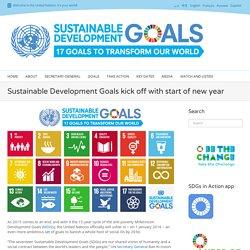 Sustainable Development Goals launch in 2016