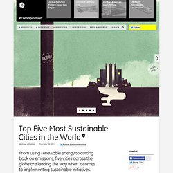 Top Five Most Sustainable Cities in the World