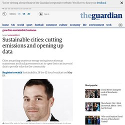 Sustainable cities: cutting emissions and opening up data