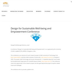 Design for Sustainable Well-being and Empowerment Conference – 4TU