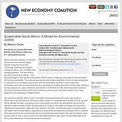 Sustainable South Bronx: A Model for Environmental Justice | New Economics Institute