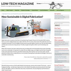 How Sustainable is Digital Fabrication?