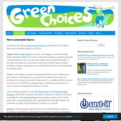 Green Choices - Sustainable fashion & fabrics