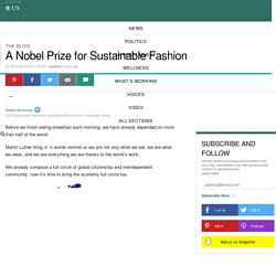A Nobel Prize for Sustainable Fashion