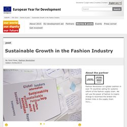 Sustainable Growth in the Fashion Industry