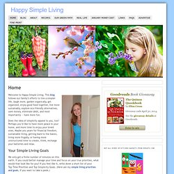 Happy Simple Living | Sustainable Home, Garden, Food and Fun