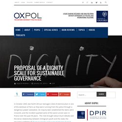 Proposal of a dignity scale for sustainable governance - OxPol