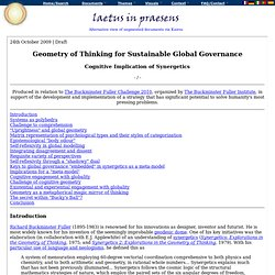 Geometry of Thinking for Sustainable Global Governance