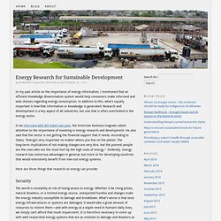 Energy Research for Sustainable Development