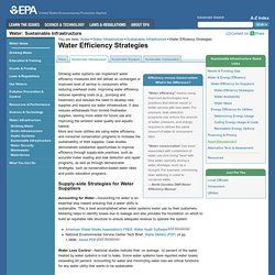Water Efficiency Strategies