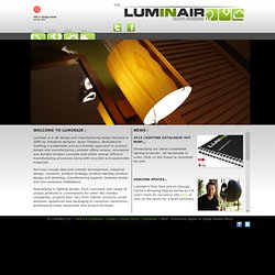 LUMINAIR LTD - ECO-FRIENDLY, SUSTAINABLE LIGHTING, INSTALLATIONS & PRODUCT DESIGN