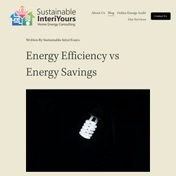 Energy Efficiency vs Energy Conservation