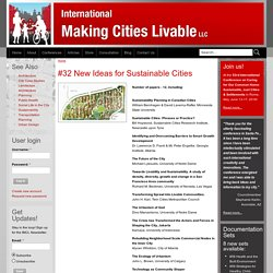 International Making Cities Livable