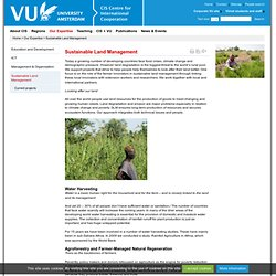 Sustainable Land Management - Our Expertise - Centre for International Cooperation, VU University Amsterdam