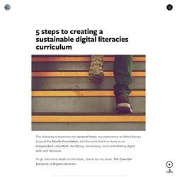 5 steps to creating a sustainable digital literacies curriculum – Medium