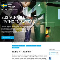 Sustainable living in Sweden