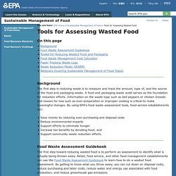 EPA 21/03/14 Food Waste Assessment Tools