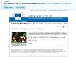 New Water Project Toolkit: a guide to sustainable water management - Headlines - JRC - European Commission