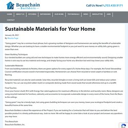 Sustainable Materials for Your Home - Beauchain Builders