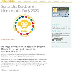 Sustainable Development Misconception Study 2020
