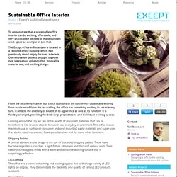 Sustainable Office Interior - Except's sustainable work space